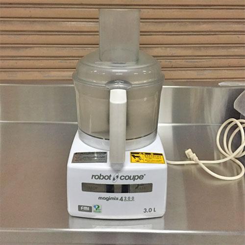 【中古】フードプロセッサー FMI(エフエムアイ) RM-4200VD 幅205×奥行260×高さ410 【送料別途見積】【業務用】