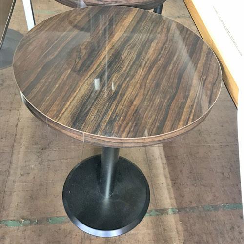 【中古】丸テーブル(メラミン木目) 幅450×奥行450×高さ700 【送料無料】【業務用】