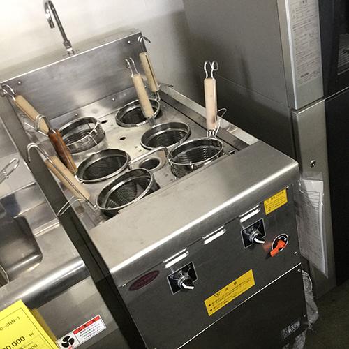 【中古】電気自動ゆで麺機 日本洗浄機 UM-641E 幅540×奥行765×高さ950 三相200V 60Hz専用 【送料別途見積】【業務用】