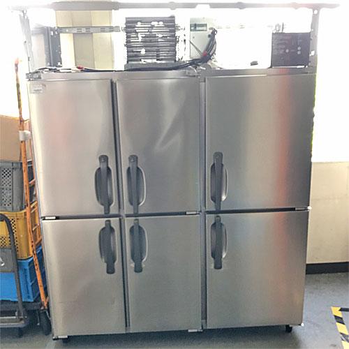 【中古】6ドア縦型冷蔵庫 ホシザキ HR-150Z3-6D-ML 幅1500×奥行800×高さ1910 三相200V 【送料別途見積】【業務用】