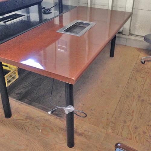 【中古】無煙ロースター テーブル 幅1700×奥行800×高さ700 LPG(プロパンガス) 【送料別途見積】【業務用】