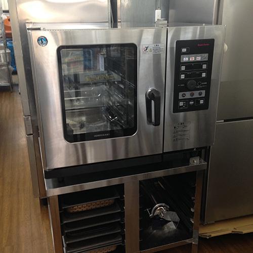【中古】スチームコンベクションオーブン 架台付き ホシザキ MIC-6SA3-1-L-AR 幅900×奥行770×高さ750 三相200V 【送料別途見積】【業務用】