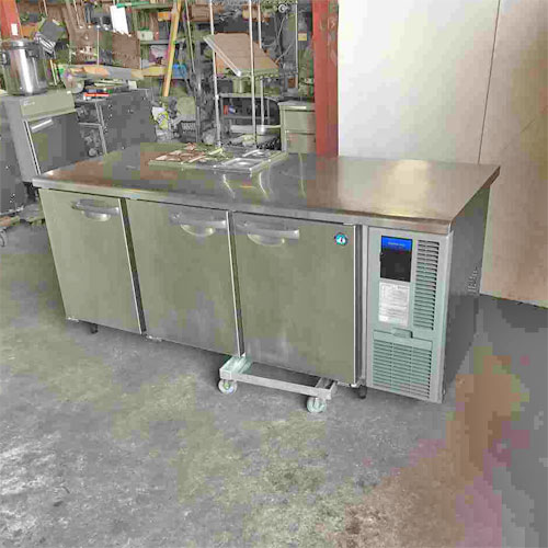 【中古】3ドア冷蔵コールドテーブル ホシザキ RT-180SDF-RML 幅1800×奥行600×高さ800 【送料別途見積】【業務用】