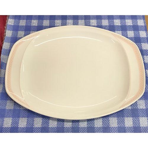 【中古】オーバル皿ピンク 10枚セット Noritake 幅338×奥行255×高さ33 【送料無料】【業務用】