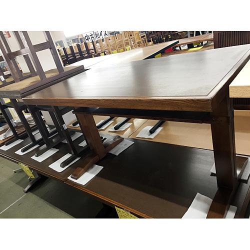 【中古】和風テーブル ダークブラウン 幅1500×奥行700×高さ710 【送料別途見積】【業務用】