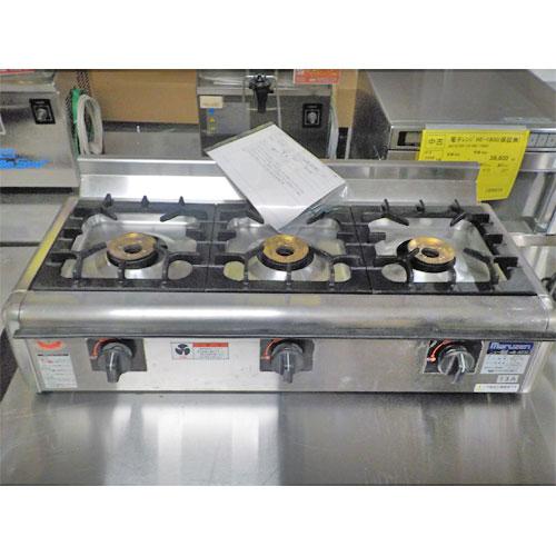 【中古】テーブルコンロ 飯盛 マルゼン M-823-E 幅780×奥行350×高さ164 都市ガス 【送料無料】【業務用】