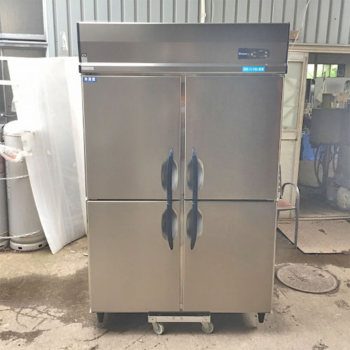 【中古】縦型冷凍冷蔵庫 4ドア 大和冷機 473S1 幅1200×奥行800×高さ1905 三相200V 【送料別途見積】【業務用】