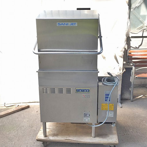 【中古】食器洗浄機(ブースター付き) 日本洗浄機 SD-112GSAH 幅822×奥行685×高さ1365 50Hz専用 都市ガス 【送料別途見積】【業務用】