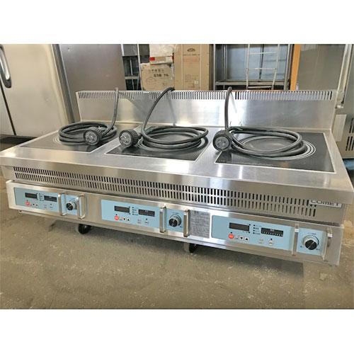 【中古】電磁調理器 コメットカトウ C1-126-555C 幅1200×奥行600×高さ300 三相200V 【送料無料】【業務用】
