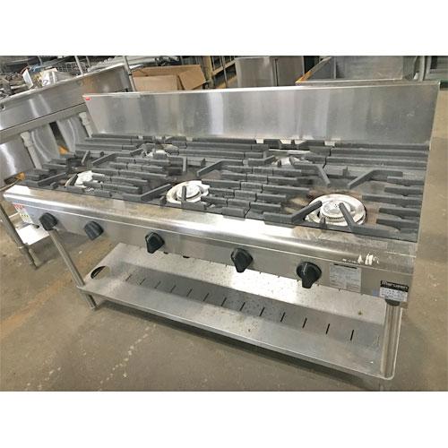 【中古】ガステーブル マルゼン RGT-1565B 幅1500×奥行600×高さ800 都市ガス 【送料無料】【業務用】