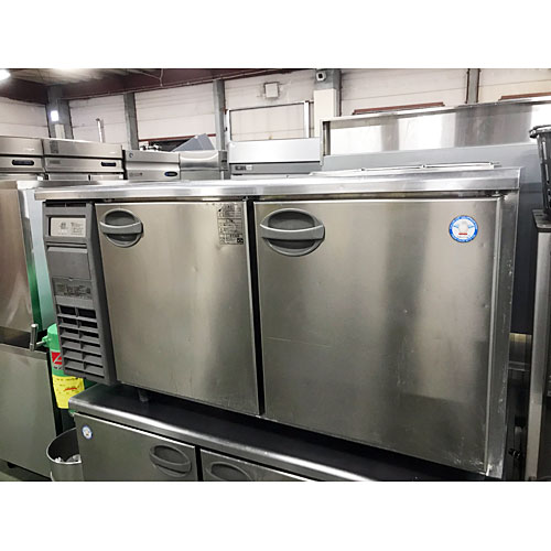 【中古】冷蔵サンドイッチコールドテーブル 左開き フクシマガリレイ(福島工業) YRC-150RM2-R改 幅1500×奥行750×高さ800 【送料無料】【業務用】