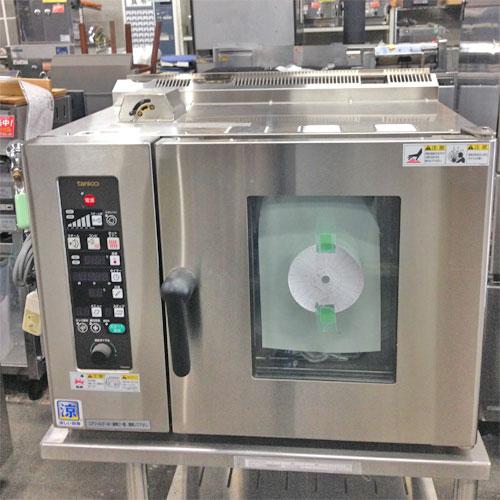 【中古】スチームコンベクションオーブン タニコー TSCO-4GBC 幅750×奥行600×高さ560 都市ガス 【送料別途見積】【業務用】