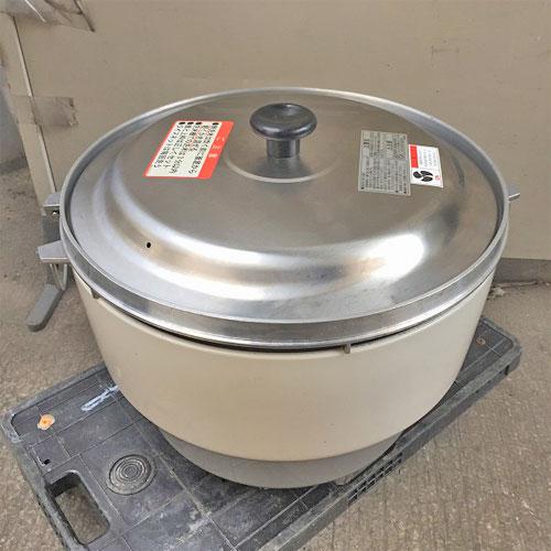 【中古】ガス炊飯器 リンナイ RR-40S1 幅550×奥行480×高さ440 都市ガス 【送料別途見積】【業務用】