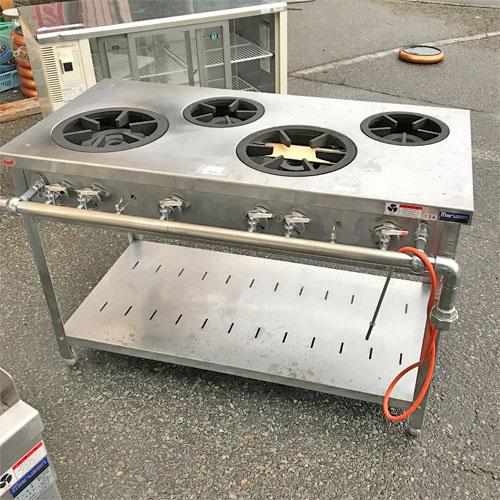 【中古】ガステーブル マルゼン MGT-126DS 幅1200×奥行600×高さ800 都市ガス 【送料別途見積】【業務用】