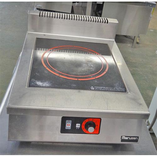 【中古】IH調理器 マルゼン MIH-P03 幅450×奥行600×高さ170 三相200V 【送料無料】【業務用】