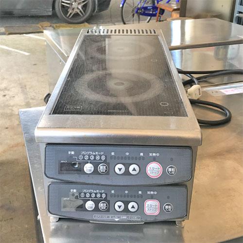 【中古】卓上2口電磁調理器 ホシザキ HIH-11RB 幅230×奥行600×高さ200 【送料別途見積】【業務用】