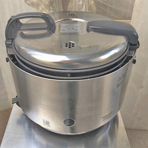 【中古】ガス炊飯器 リンナイ RR-S15VNS 幅356×奥行385×高さ392 都市ガス 【送料別途見積】【業務用】