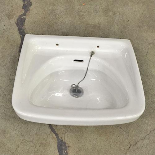 【中古】手洗い器 (栓のみ) 幅400×奥行325×高さ220 【送料別途見積】【業務用】