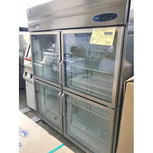 【中古】ガラス扉縦型冷蔵庫 ホシザキ RS-150ZT-4G 幅1500×奥行650×高さ1900 【送料別途見積】【業務用】