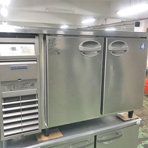 【中古】冷蔵コールドテーブル 北沢産業 KYRC-120RM2-F 幅1200×奥行600×高さ800 【送料別途見積】【業務用】