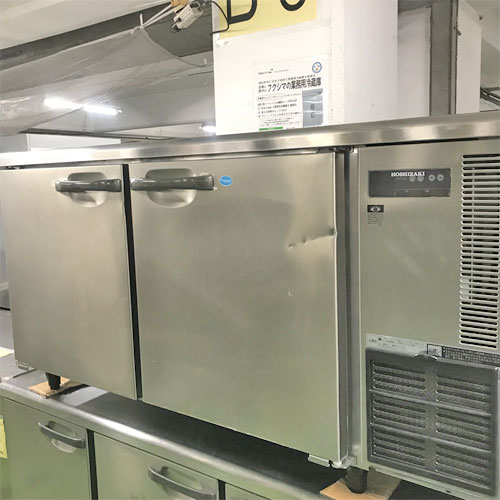 【中古】冷凍冷蔵コールドテーブル ホシザキ RFT-150SNE-R 幅1500×奥行600×高さ800 【送料別途見積】【業務用】