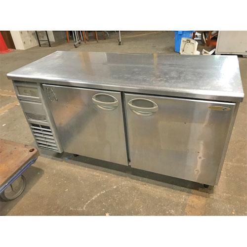 【中古】冷蔵コールドテーブル フクシマガリレイ(福島工業) YRC-150RM-F 幅1500×奥行600×高さ800 【送料無料】【業務用】