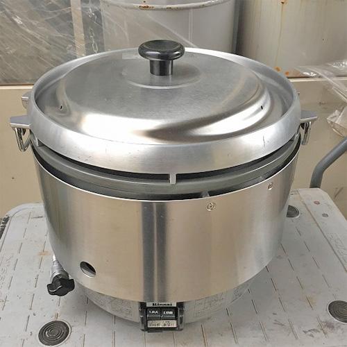 【中古】ガス炊飯器 リンナイ RR-30S2-B 幅480×奥行430×高さ450 都市ガス 【送料別途見積】【業務用】