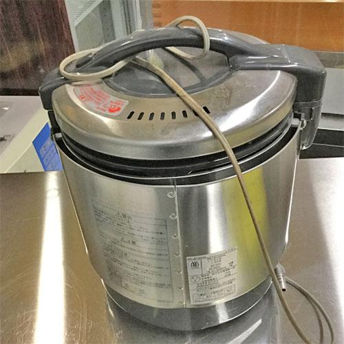 【中古】ガス炊飯器 リンナイ RR-S100VL 幅309×奥行286×高さ359 LPG(プロパンガス) 【送料別途見積】【業務用】