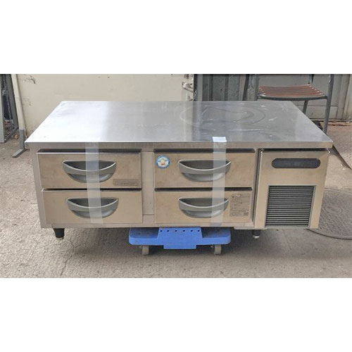 【中古】低ドロワーコールドテーブル フクシマガリレイ(福島工業) TBC-40RM3-R 幅1200×奥行600×高さ550 【送料無料】【業務用】