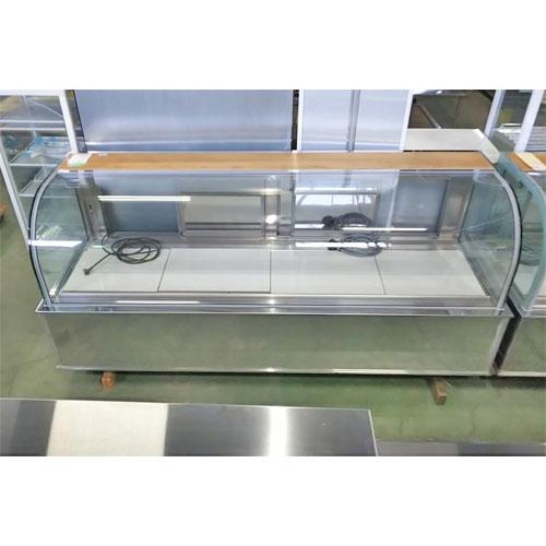 【中古】冷蔵ショーケース アリガ ZPC-0802RZ 幅2400×奥行820×高さ1100 三相200V 【送料別途見積】【業務用】