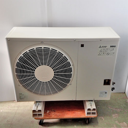 【中古】プレハブ用冷凍機 一体空冷式密閉形コンデンシングユニット 三菱電機 ERA-RP08B 幅950×奥行450×高さ745 三相200V 【送料別途見積】【業務用】