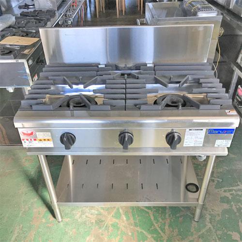 【中古】ガステーブル マルゼン RGT-0963C(特) 幅900×奥行600×高さ800 都市ガス 【送料別途見積】【業務用】