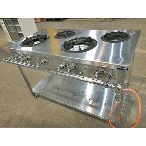 【中古】ガステーブル マルゼン MGT-1260DS 幅1200×奥行600×高さ800 都市ガス 【送料無料】【業務用】