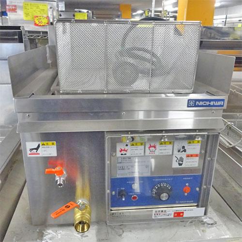 【中古】卓上電気ゆで麺機 二チワ電機 ENB-450 幅450×奥行530×高さ300 三相200V 【送料別途見積】【業務用】