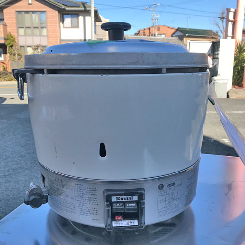 【中古】ガス炊飯器 3升(6L)炊き リンナイ RR-30S1 幅450×奥行421×高さ425 LPG(プロパンガス) 【送料別途見積】【業務用】