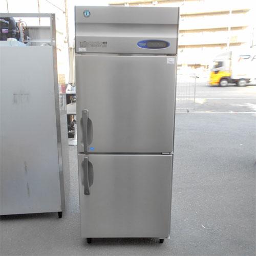 【中古】2ドア縦型冷凍冷蔵庫 ホシザキ HRF-75Z 幅750×奥行800×高さ1890 【送料別途見積】【業務用】