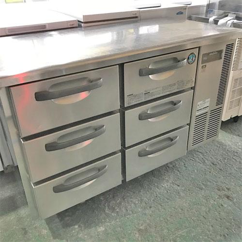 【中古】冷蔵ドロワーコールドテーブル ホシザキ RT-1200DNCG-R 幅1200×奥行600×高さ800 【送料別途見積】【業務用】