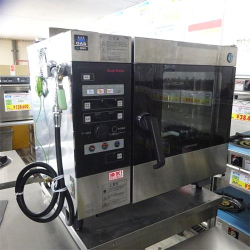 【中古】スチームコンベクションオーブン ホシザキ MIC-5TB-GA 幅750×奥行560×高さ685 都市ガス 【送料別途見積】【業務用】