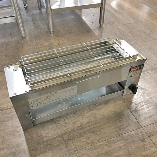 【中古】下火式焼物器 リンナイ RGK-61D 幅607×奥行210×高さ216 都市ガス 【送料無料】【業務用】