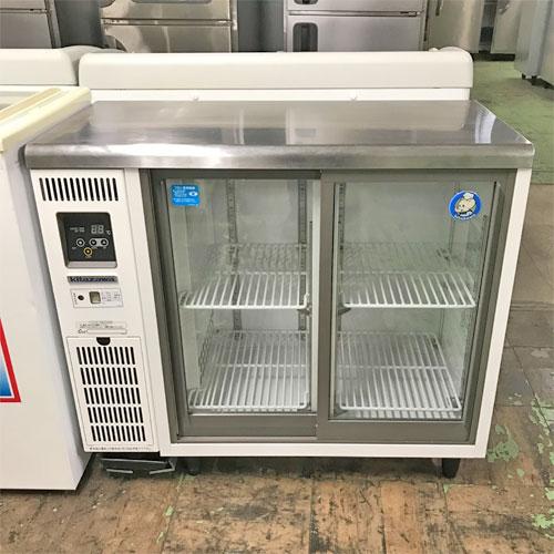 【中古】冷蔵ショーケース 北沢産業 KTGU-30RE1 幅900×奥行450×高さ800 【送料別途見積】【業務用】