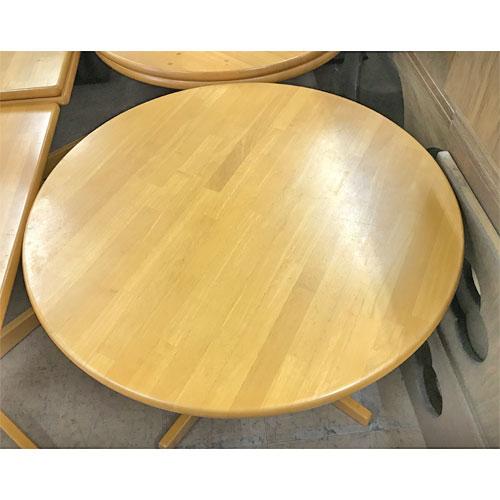 【中古】丸テーブル(木天) 幅900×奥行900×高さ700 【送料無料】【業務用】