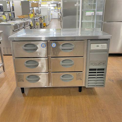 【中古】冷蔵ドロワーコールドテーブル フクシマガリレイ(福島工業) YDW-120RM2-R 幅1200×奥行750×高さ800 【送料無料】【業務用】
