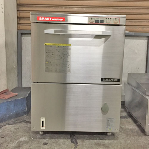 【中古】食器洗浄機 中西 AU70-2 幅600×奥行600×高さ850 三相200V 50Hz専用 【送料別途見積】【業務用】