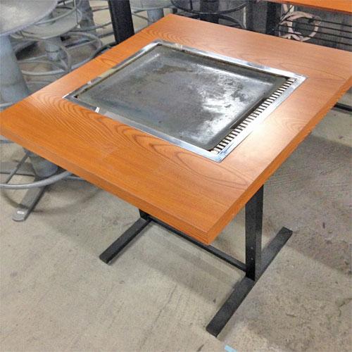 【中古】お好み焼きテーブル 幅650×奥行750×高さ700 【送料別途見積】【業務用】