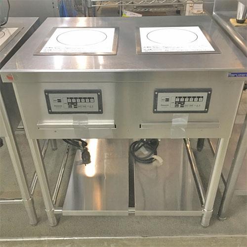 【中古】2連IH調理器 パナソニック(Panasonic) KZ-DK2001 幅800×奥行750×高さ800 【送料無料】【業務用】