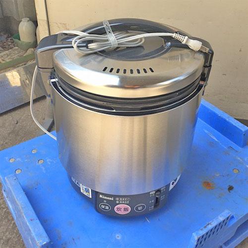 【中古】ガス炊飯器 リンナイ RR-S100VL 幅309×奥行286×高さ359 都市ガス 【送料別途見積】【業務用】