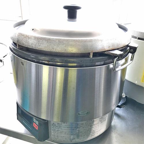 【中古】ガス炊飯器 リンナイ RR-30G2 幅466×奥行436×高さ460 都市ガス 【送料別途見積】【業務用】