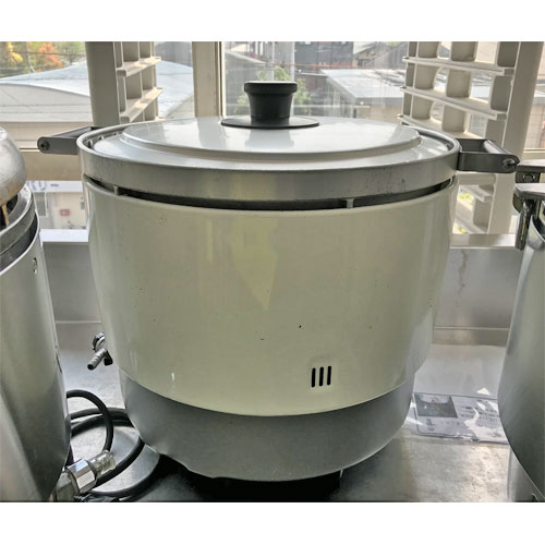 【中古】ガス炊飯器 パロマ PR-6DSS-1 幅513×奥行410×高さ414 LPG(プロパンガス) 【送料別途見積】【業務用】