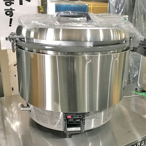 【中古】ガス炊飯器 リンナイ RR-30S2 幅466×奥行438×高さ442 都市ガス 【送料別途見積】【未使用品】【業務用】