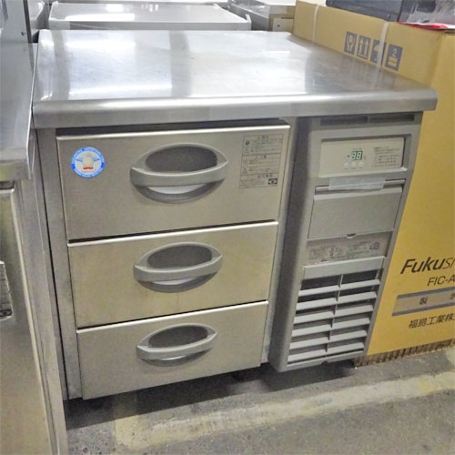【中古】冷凍ドロワーコールドテーブル フクシマガリレイ(福島工業) YDW-083FM2-R 幅755×奥行750×高さ800 【送料別途見積】【業務用】